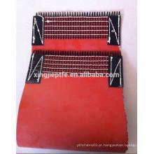 1.5mm vermelho ambos os pano de silicone lateral para correia transportadora