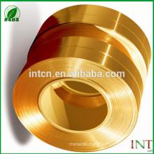 GB DIN EN ISO UNS JIS standard C24000 brass strips