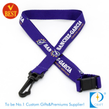 High Quality Cheap Customized Logo Flat Polyester Printed Lanyard for Promotion