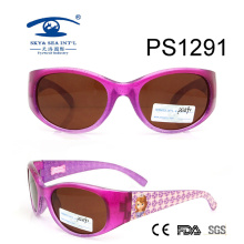 2017 Newest Cartoon Patten Colorful Kid Plastic Sunglasses (PS1291)