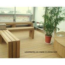 De madera de alta calidad compuesto de plástico WPC mesas de paisaje y sillas
