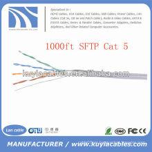 1000FT cable de la red SFTP de 4pairs Cat5