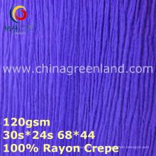 100%вискоза креп тканые крашения ткани для блузы (GLLML374)