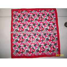 100% cotton lady's printed kerchief