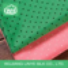 Tissu en peau de pêche à la polie tissée pour veste extérieure