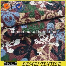 printed textile fabrics with skulls cotton polyester