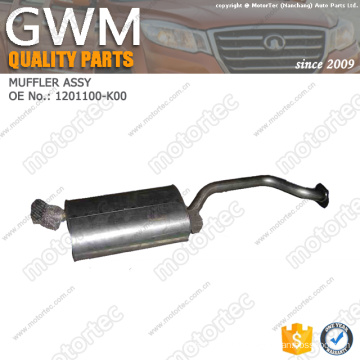 OE chinese car parts great wall spare parts MUFFLER ASSY 1201100-K00