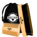 FQ marque en gros bois brosse à cheveux 100% sanglier cheveux barbe brosse