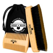 FQ marca atacado escova de cabelo 100% javali pêlos barba escova de cabelo