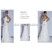 Романтическое 2011 свадебное платье, свадебный наряд, французское кружево.
