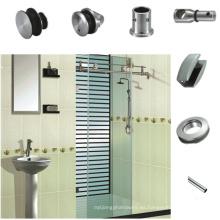 Sistema de puerta corrediza de vidrio de 180 grados con ajuste de alta calidad
