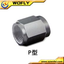Raccords en tube d'air plastique en acier inoxydable A1 / 16