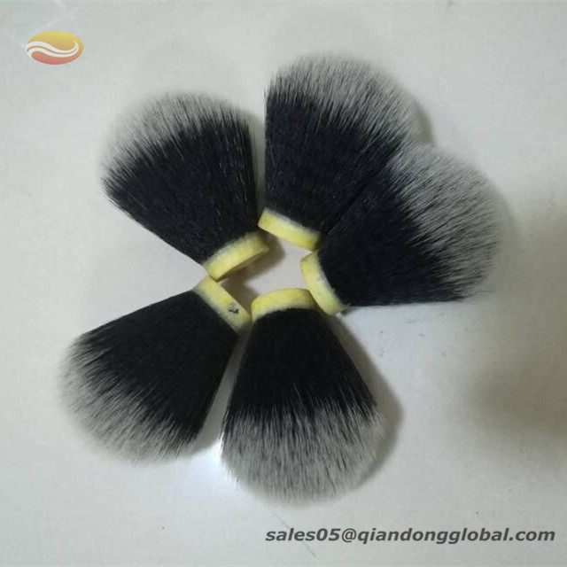 Black Corrugated Synthetic Shaving Brush Knot
