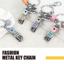 Bow tie bear metal fashion key chain