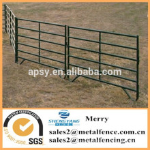 bon marché les rails en métal de clôture de ferme d'animal de bétail tenant des panneaux de barrière de ranch de yards