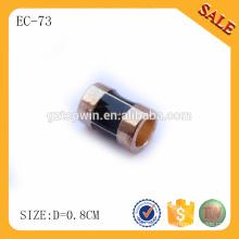 EC73 Highly plating metal strap end cord, zinc alloy metal draw cord lock