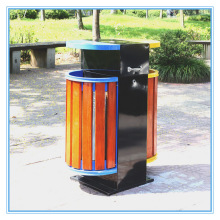 Hot Selling Steel-Wood Outdoor Garbage Bins (B10420)
