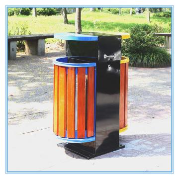 Lojas de lixo ao ar livre de aço inoxidável de venda quente (B10420)