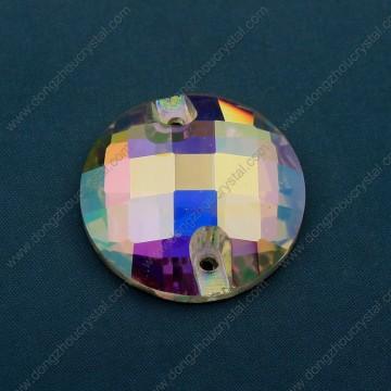 14mm 16mm runde flache Rückseite näht auf Steinen mit Löchern