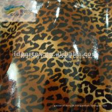 Grãos de 100% algodão impresso tecido revestido PVC para Leopard pano