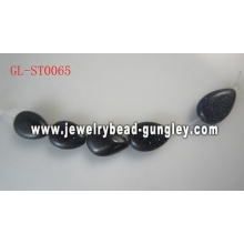 Teardrop shape Genuine Gemstone beads