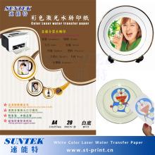 A4 A3 Color blanco agua etiquetas para láser / impresora de chorro de tinta