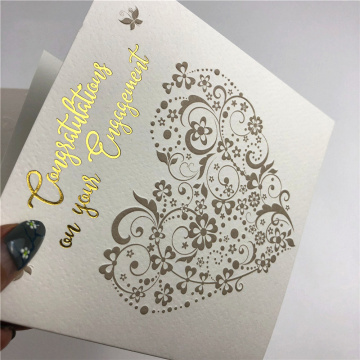 특수 텍스처 용지 Custom Handwring Greeting Gift Card