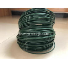 짙은 녹색 PVC Coted Iron Wire