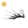 5 pcs german steel chef knives kitchen knife set with black handle