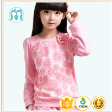 2016 spring kids clothes set girls causal flower suits t-shirt pants suits set