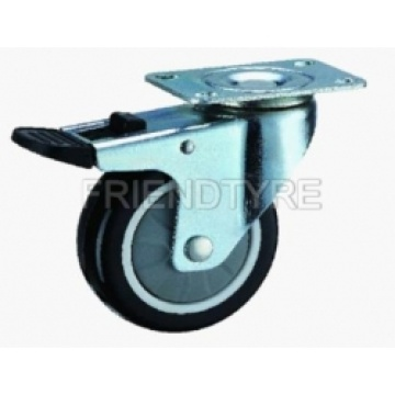 Heavy Duty Swivel And Fixed Casters With Pu