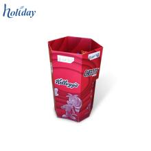 Support libre d'affichage de chocolat de carton de POP, présentoirs de chocolat, affichage pour le chocolat