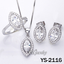 925 Silver Jewelry with Cubic Zirconia for Women (YS-2116)