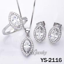 925 серебряных ювелирных изделий с кубическим цирконием для женщин (YS-2116)