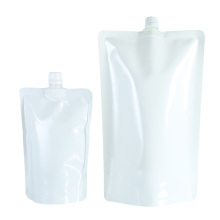 Pure color custom logo plastic package doypack drink pouch standup pouch bags for liquids chemical lotion spout pouch