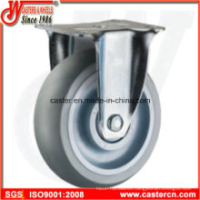 Round Tread Super Synthetic Rubber Fixed Caster