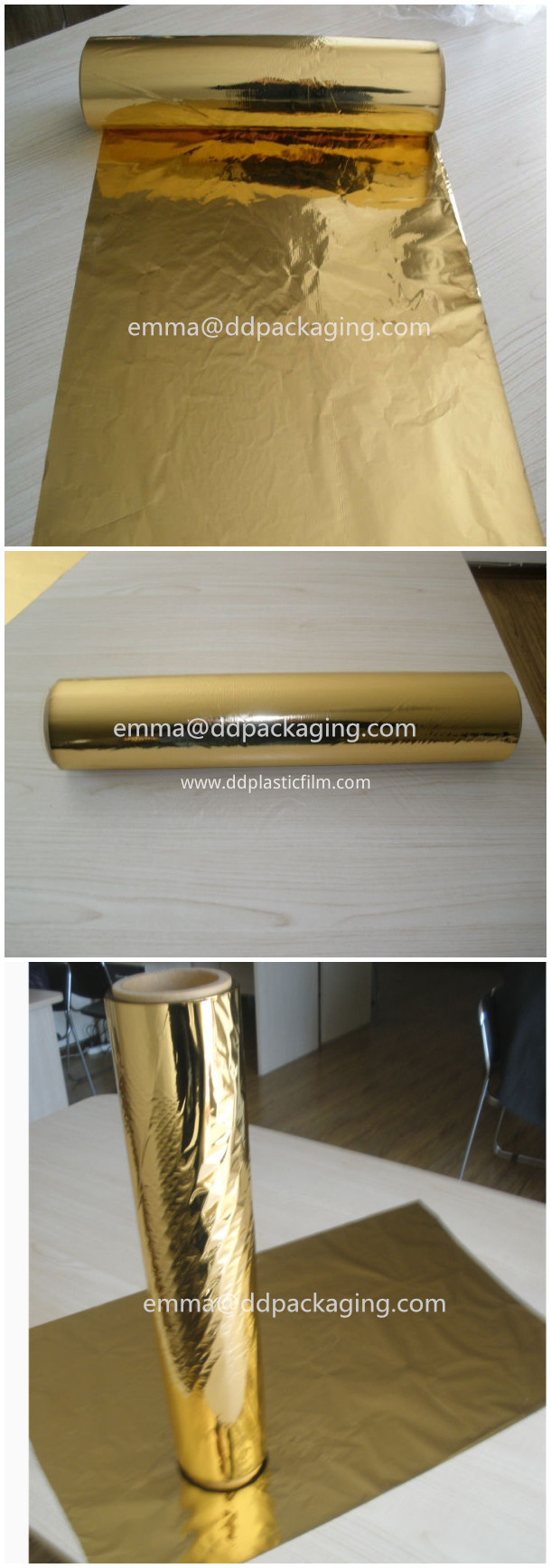 Gold lamination film