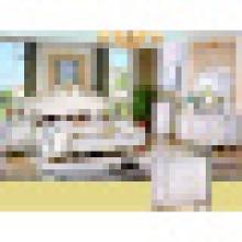 Домашняя мебель Антикварная кровать и комод и шкаф (W803B)