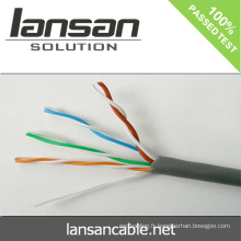 Câble de réseau Lansan Cat5e UTP 4P * 24AWG 0.50mm BC passé test de liaison permanente de 90m