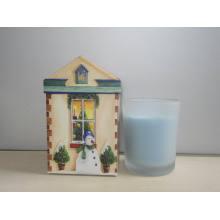 Снеговик Рождественские Свечи Стеклянную Банку