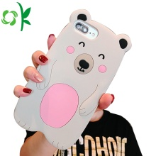 Cartoon Bear Shape Silicone Phone Case do IphoneXS