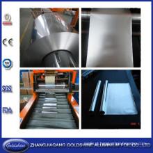 Folha de alumínio da cozinha do rebobinamento e máquina de corte