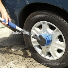 water fed car wheel brush with extension pole