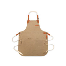 BBQ Leather Waxed Canvas Makeup Apron