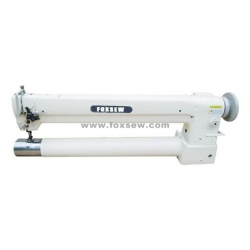 Długie ramię Podwójna igła Cylinder Bed Unison Feed Extra Heavy Duty Machine