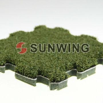 Ineinandergreifende künstliche Gras-Puzzlespiel-Matten-Fliese für Dekoration im Freien DIY