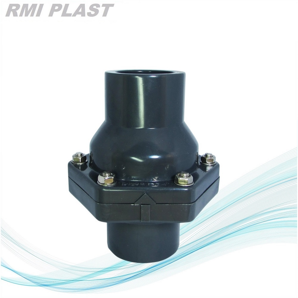 China pvc swing check valve socket ansi high quality