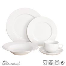 Ensemble de dîner en porcelaine super blanc à 20PCS