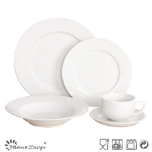 20PCS Hotel Super White Porcelain Dinner Set