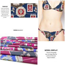 Fancy Digital Printed Knit Jersey Fabric for Swimwear